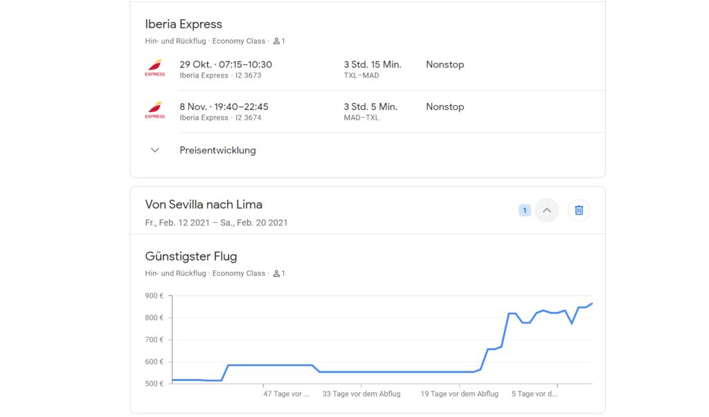 rastrear vuelos Google Flights