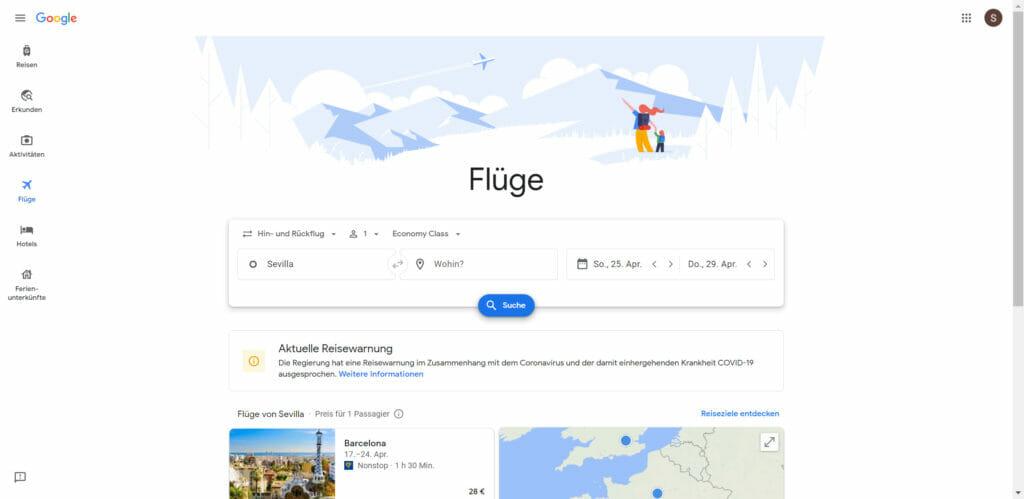 Vuelos baratos Google Flights